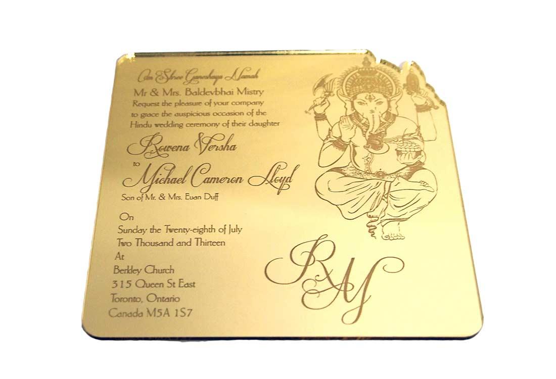 Intricate Creations | gold-mirror-ganesh-indian-hindu-wedding ...