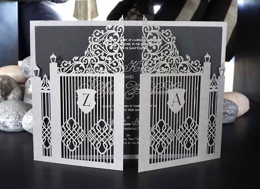Bespoke Laser Cut Wedding Invitations UK
