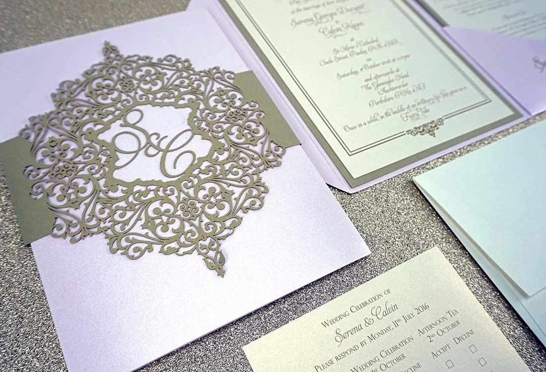 Funky Paper Doily Wedding Invitations Elaboration - Invitations ...