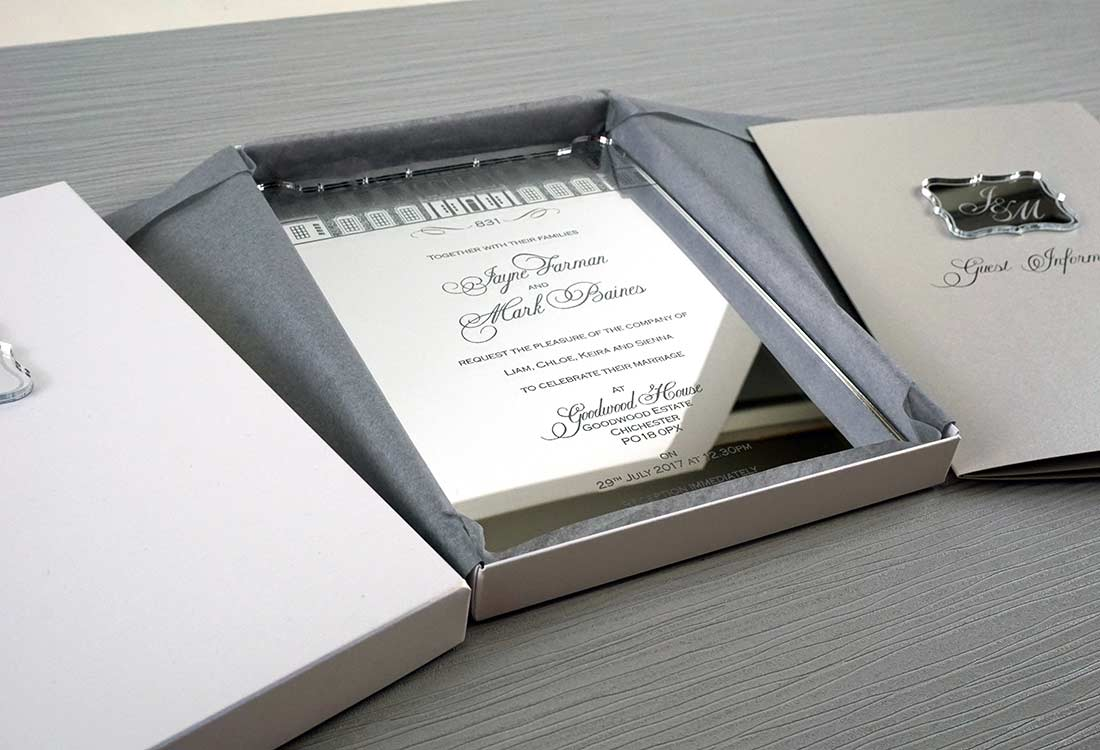 Funky Laser Engraved Wedding Invitations Elaboration - Invitations ...